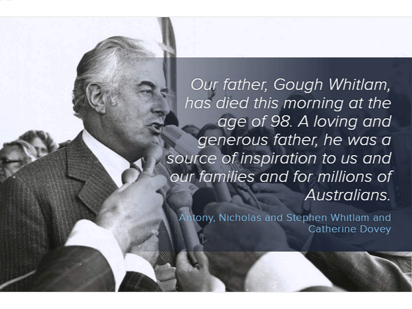 a biography of edward gough whitlam the 21st prime minister of australia Edward gough whitlam (11 july 1916 – 21 october 2014), known gough whitlam, was an australian politician he was the 21st prime minister of australia, and the only prime minister to have been dismissed from office by a governor-general he was prime minister for three years.
